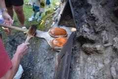 Knusprig braun gebackene Brote